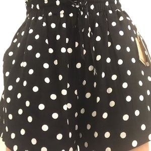 polka dot pull on shorts